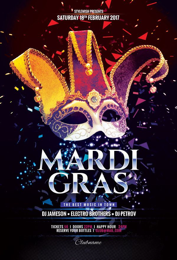 Mardi Gras Flyer Flyer Template Mardi Gras And Template