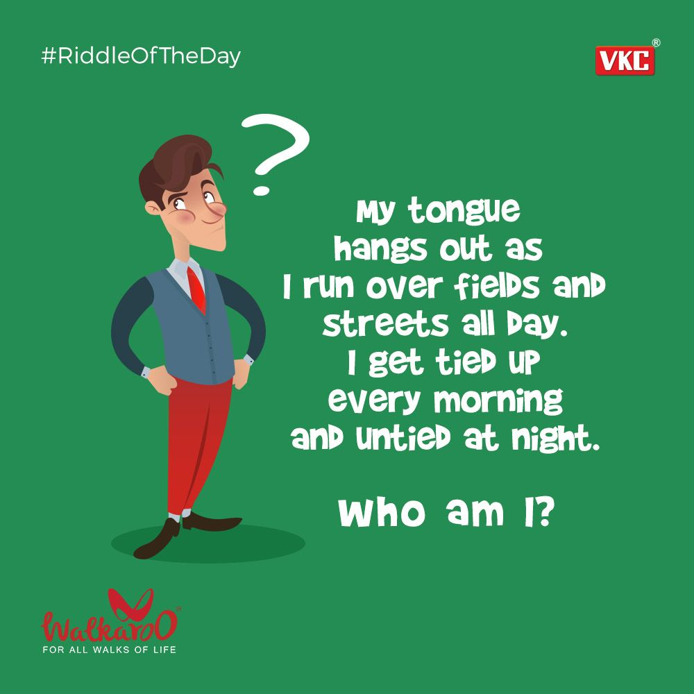 Untangle this tricky riddle! Riddle Walkaroo