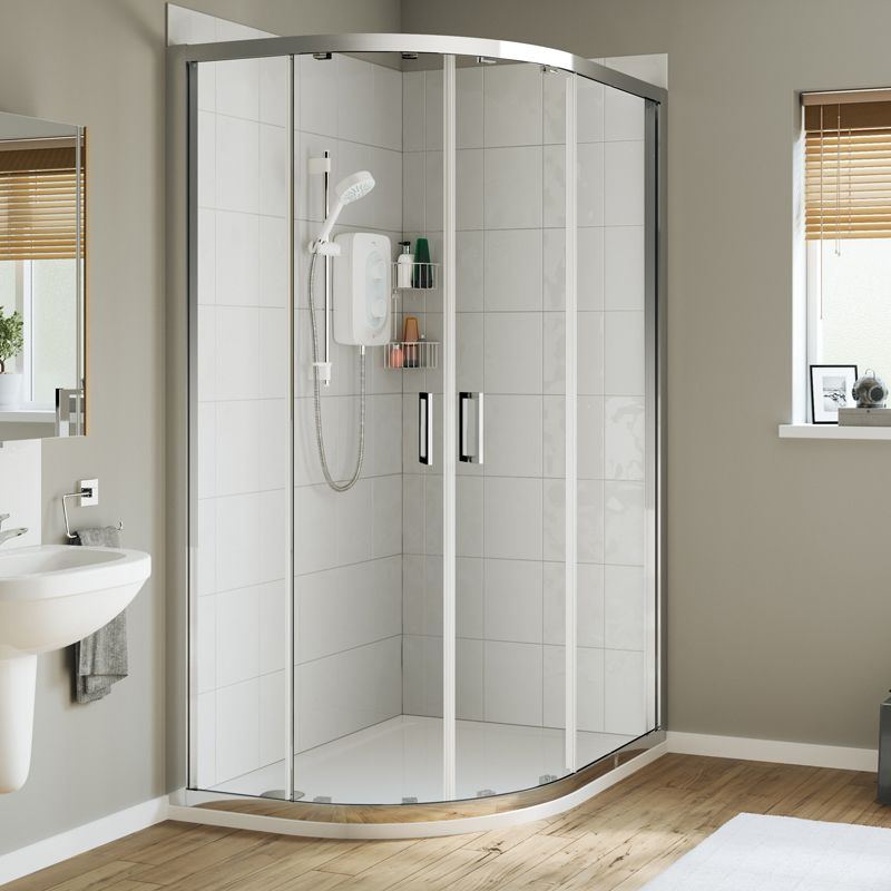Mira Leap Quadrant Shower Enclosure 1000mm X 800mm Left Hand Shower Enclosure Quadrant Shower Quadrant Shower Enclosures