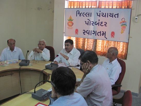 MEETING WITH PORBANDAR DDO & OTHER OFFICERS