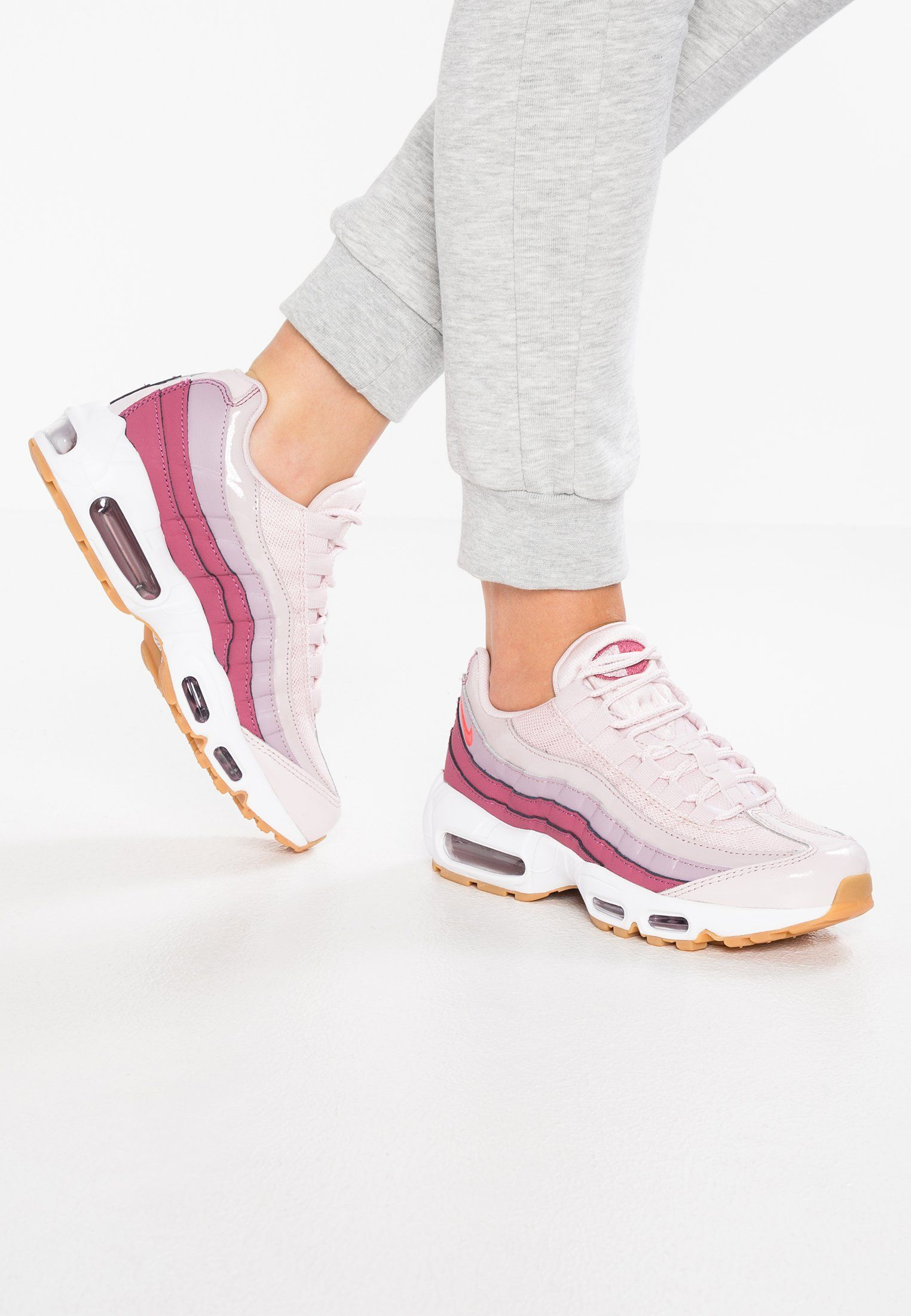 6ad5e3f8162 Nike Sportswear AIR MAX 95 - Baskets basses - barely rose hot punch vintage  wine white elemental rose light brown - ZALANDO.FR