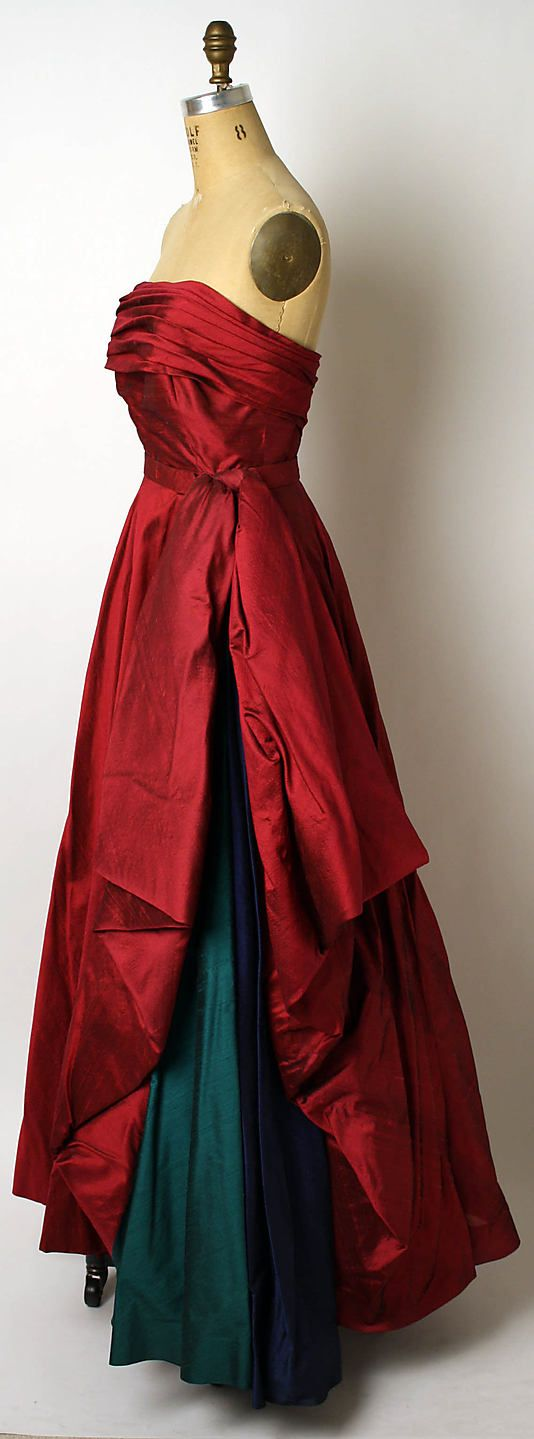 1950 silk gown, from the Met's collection, attributed to Edward Molyneux/Jacques Griffe