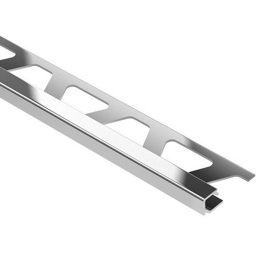 Schluter Systems QUADEC Right Angle Edge Trim 3/8-in Polished Chrome ...