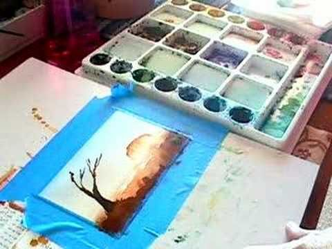 Watercolour Painting Demo Of Uluru Australia Painting Demo