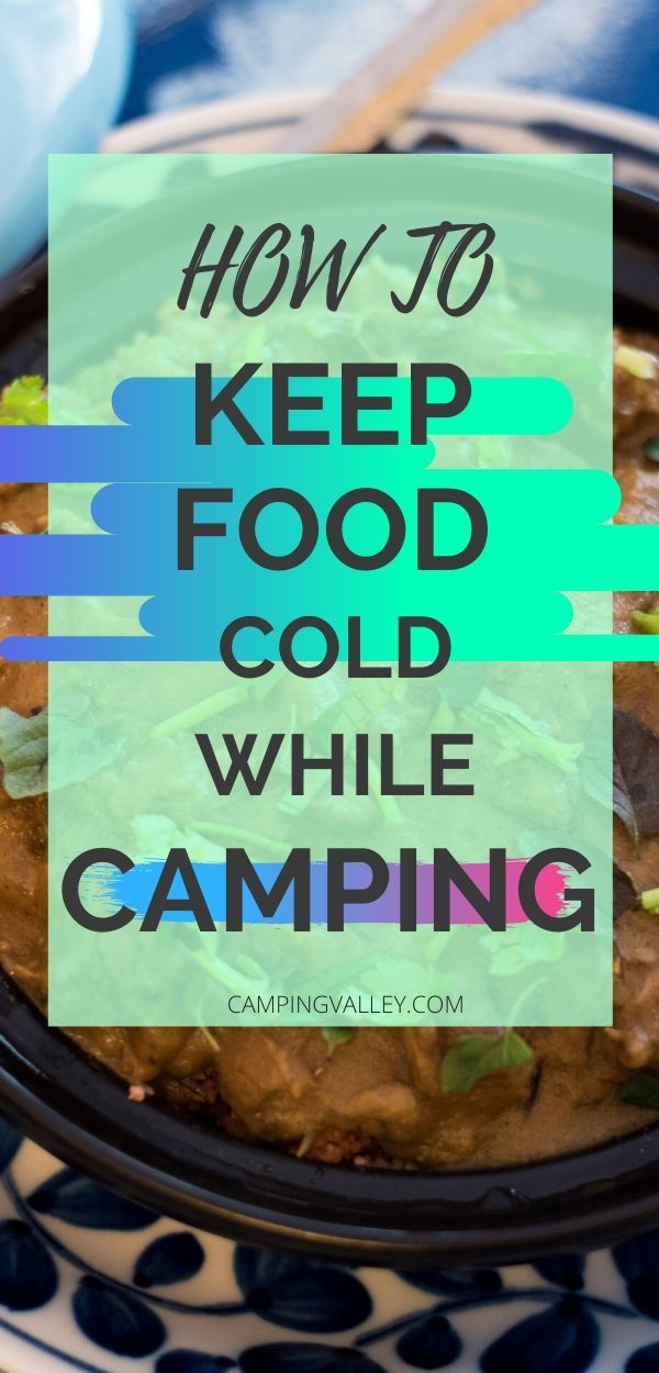 How To Keep Food Cold While Camping   Camping food ...