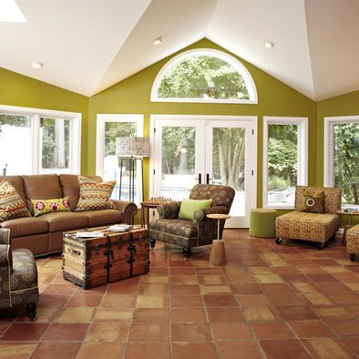 eclectic clay mexican tile flooring
