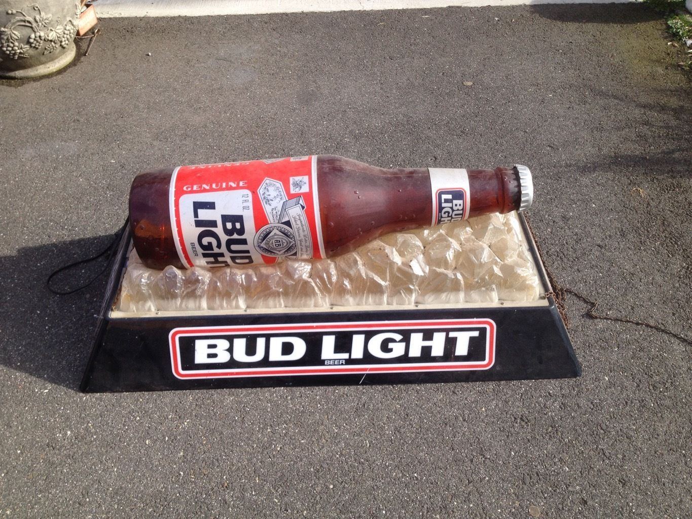 Budweiser Bud Light Pool Table Hanging Vintage And