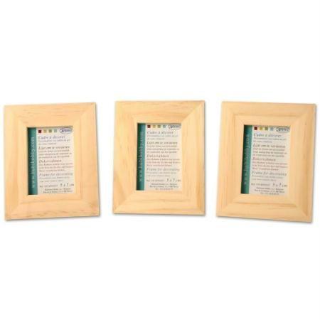 Lot de 3 cadres en bois - format photo 6 x 4.5 cm - Photo n°1 4,75 ...