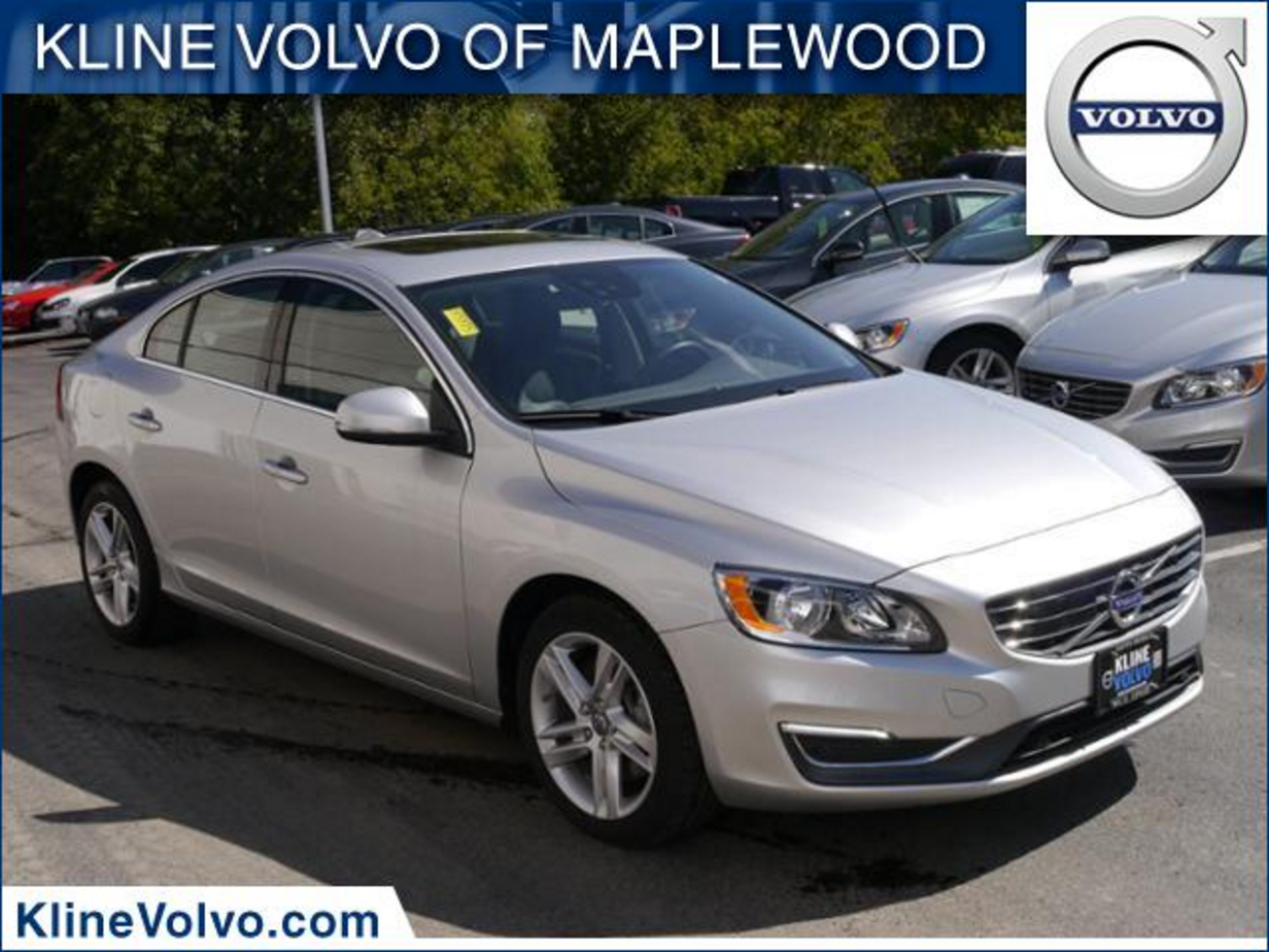 Available at Kline #Volvo of Maplewood: 2015.5 #S60 T5 Premier Sedan in Bright Silver with Off ...