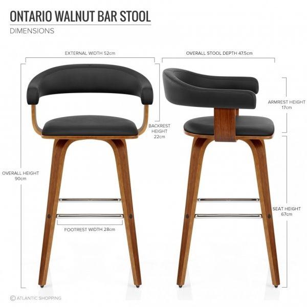 De Chaise Ontario En 2019 …Seatings Bois Bar Cuir Faux 125e H9D2IWE