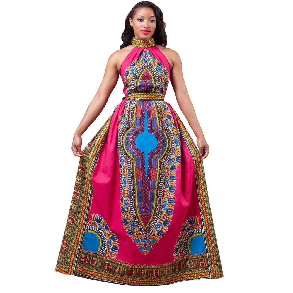 New arrival women summer long dress sexy africa style print dress