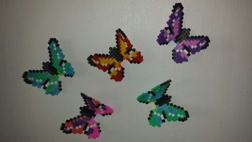 Butterfly when hot lay over rolling pin and they bend...looks like they are flying.