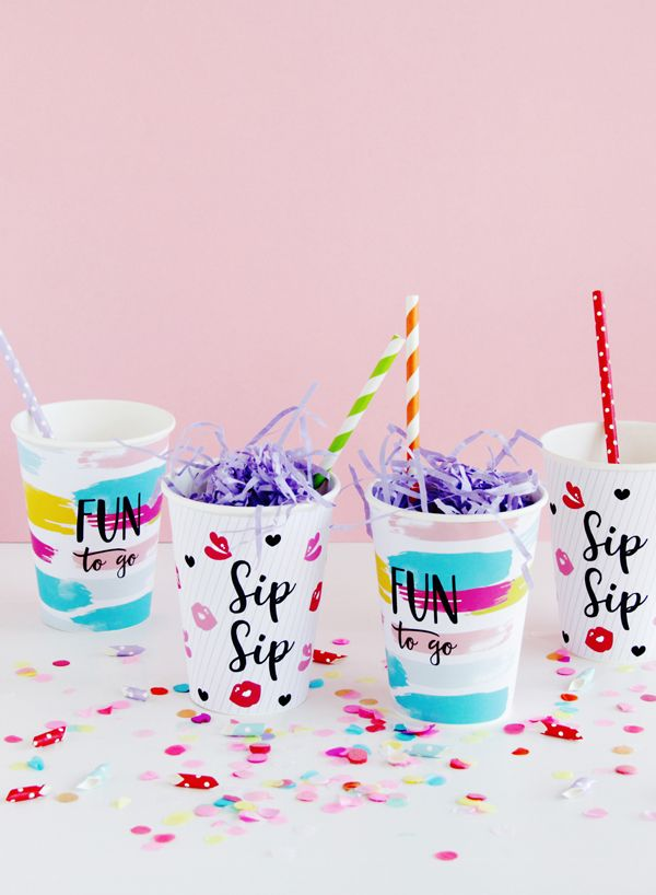 Free printable Paper Party Cups by Design is Yay!