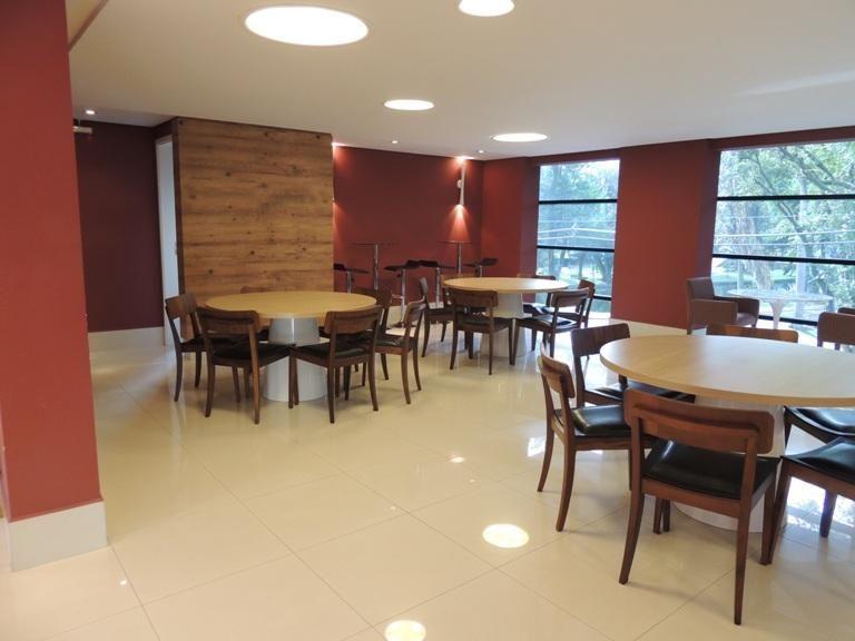 Sala para eventos. Projeto Edifício Tour Garden. Centro, Passeio Público. Curitiba - Paraná.