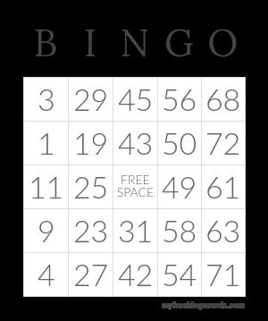 Free Printable And Virtual Bingo Cards Bingo Card Template Free Printable Bingo Cards Free Bingo Cards