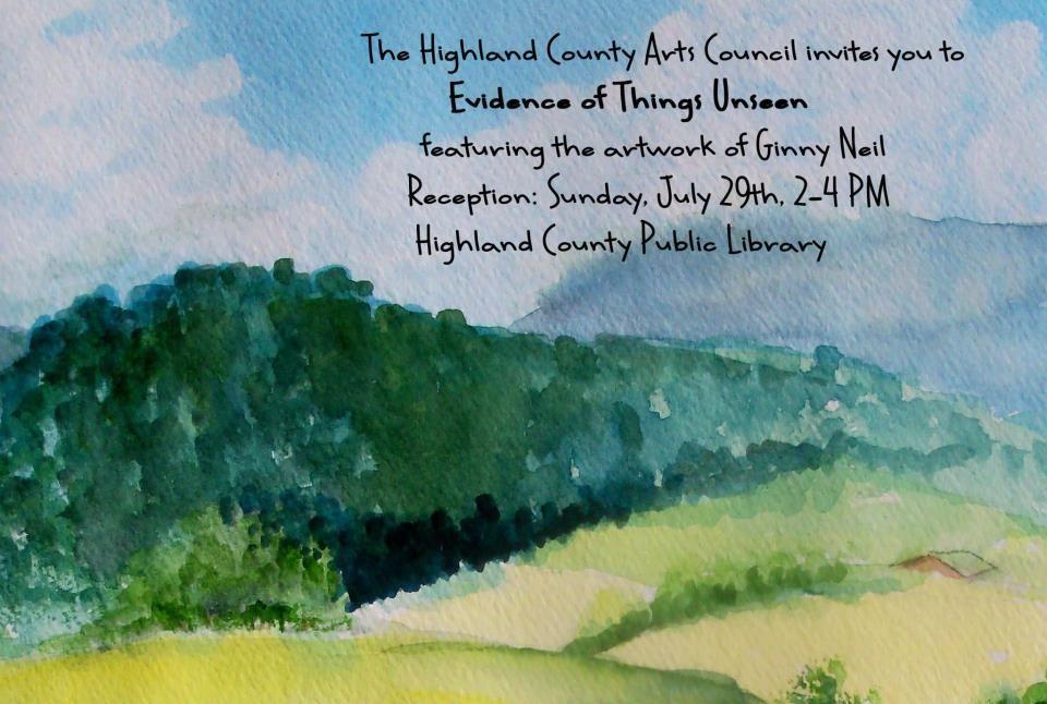 invitation to art show-watercolor