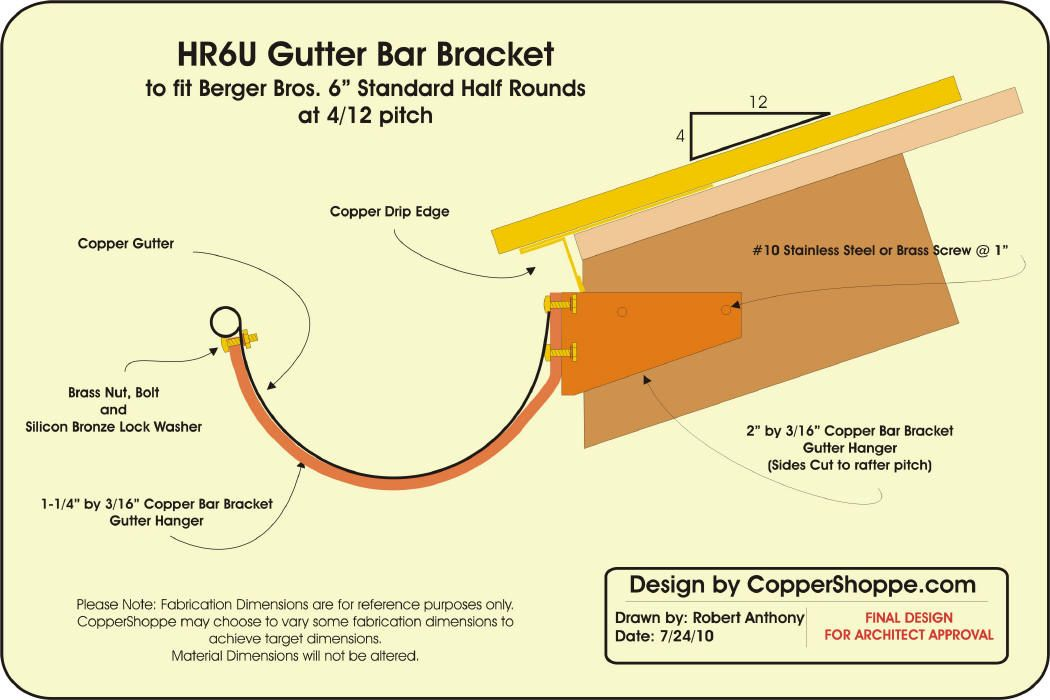 Http Www Coppershop Net Product Services Copper Gutter Brackets Hru Hru Rafter Tail Gutter Bracket Jpg Gutters Gutter Rafter