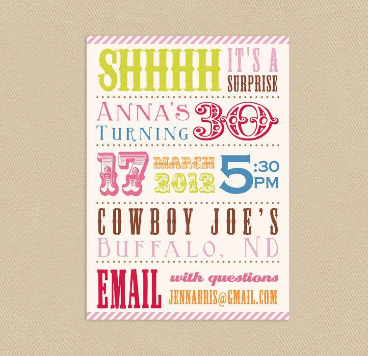 17 Best images about Shhh its a surprise – Surprise Bday Party Invitations