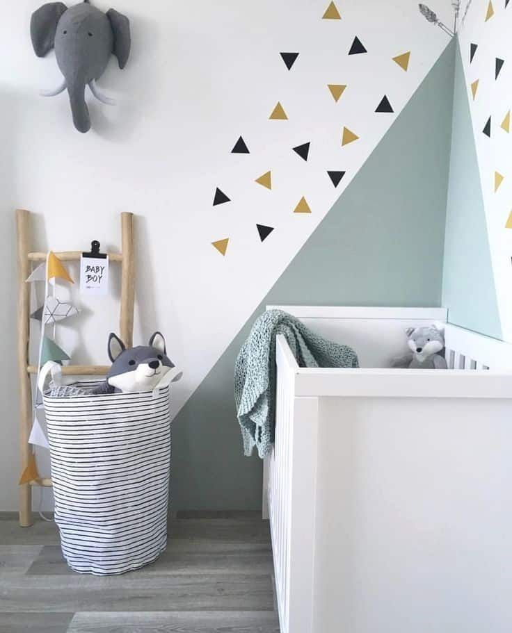 painting triangles child room