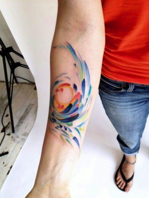 20 Best Paint Stroke Tattoos | Tattoo.com
