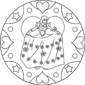 Prinzessin Mandala Zum Ausdrucken Und Ausmalbild Mandala Zum Ausdrucken Mandala Ausmalen Bilder Zum Ausdrucken