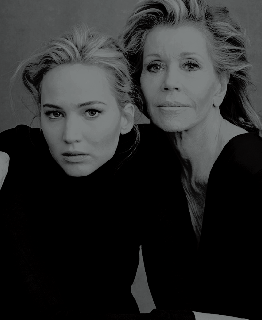 Jennifer Lawrence And Jane Fondafor Vanity Fair Feb2016 By
