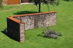 bildergebnis f r sichtschutz mit brennholz brennholz lagern garten gartenbau und garten ideen. Black Bedroom Furniture Sets. Home Design Ideas