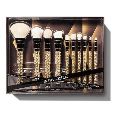A limited edition makeup brush set that gleams in gold.   39 Awesome Gifts You Didn't Know You Could Get At Target