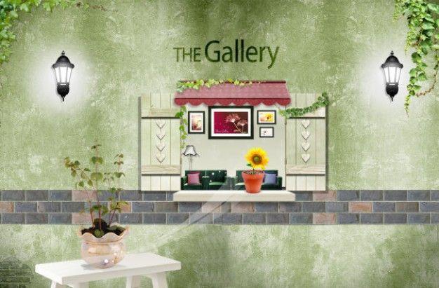 casa salão experiência cena material decorativo em camadas