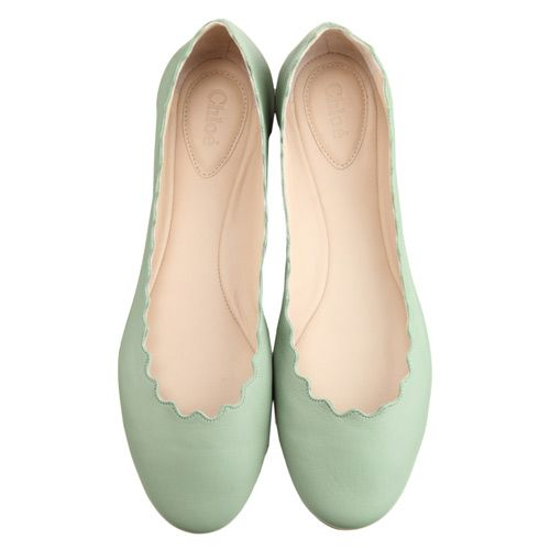 Chloe \ Scalloped Ballet Flats