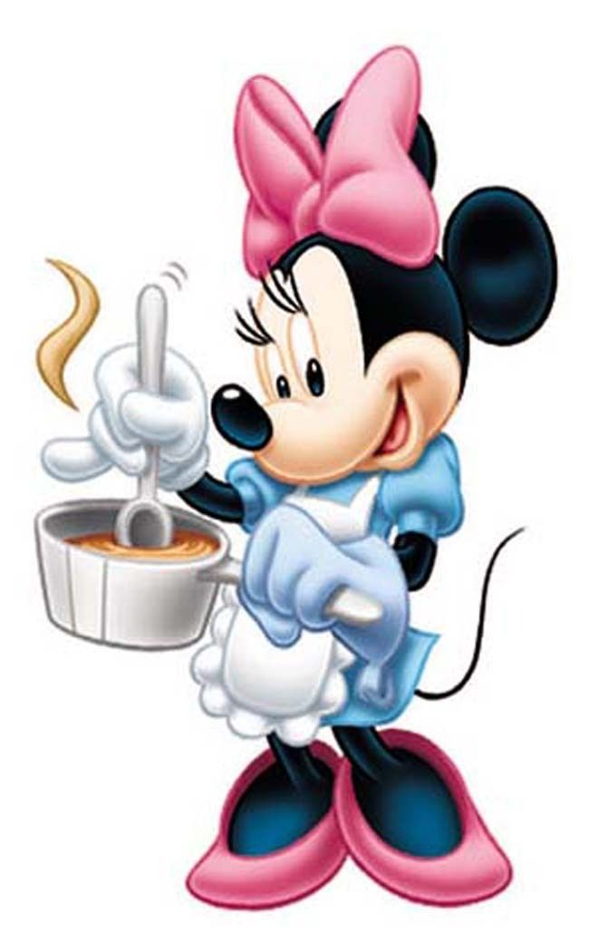 Girl Wall Stickers Cooking Minnie Mouse Funny Baby Kids Wall Decals Decor
