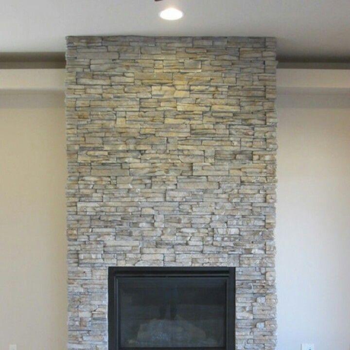 Light Grey Stone Fireplace Stacked Stone Fireplaces