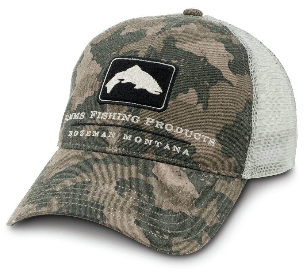 Amazon com: Simms Trout Trucker Cap Olive: Sports & Outdoors