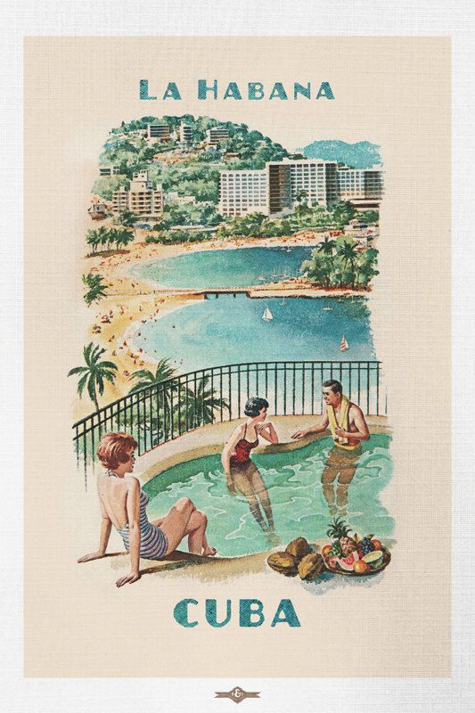 "052.Cuban travel poster/""So near..so fast/""Havana Fashion.Home Interior Decoration"