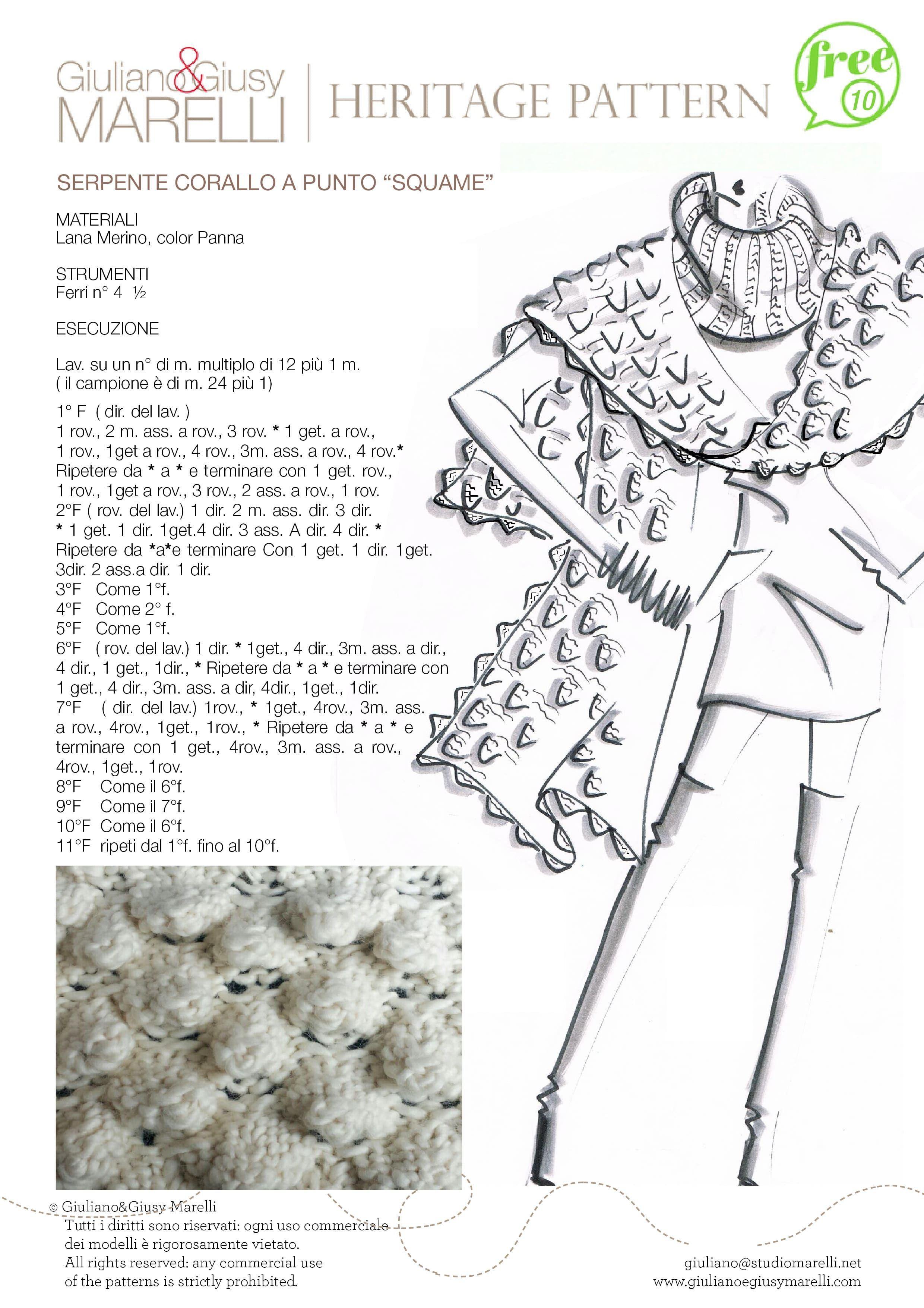 Punti Heritage 10 - PUNTO SQUAME.jpg | tejido, costura, estilo ...