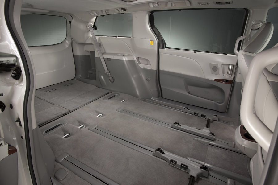 Toyota Sienna Interior Seats Removed Minivan To Camper Conversion