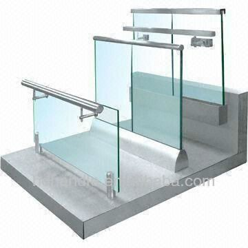 Balcony Frameless Glass Balustrade With Aluminium Channel