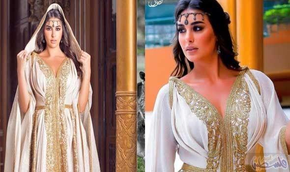 ياسمين صبري تبدو أنيقة في القفطان الأبيض المطرز Moroccan Dress Fashion Dresses Dresses