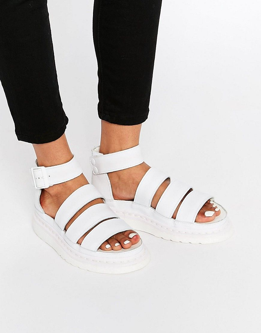 Image 1 of Dr Martens White Shore Clarissa Gladiator Strap Sandals