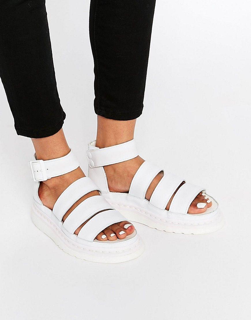 ce2398f71951 Dr Martens White Shore Clarissa Gladiator Strap Sandals