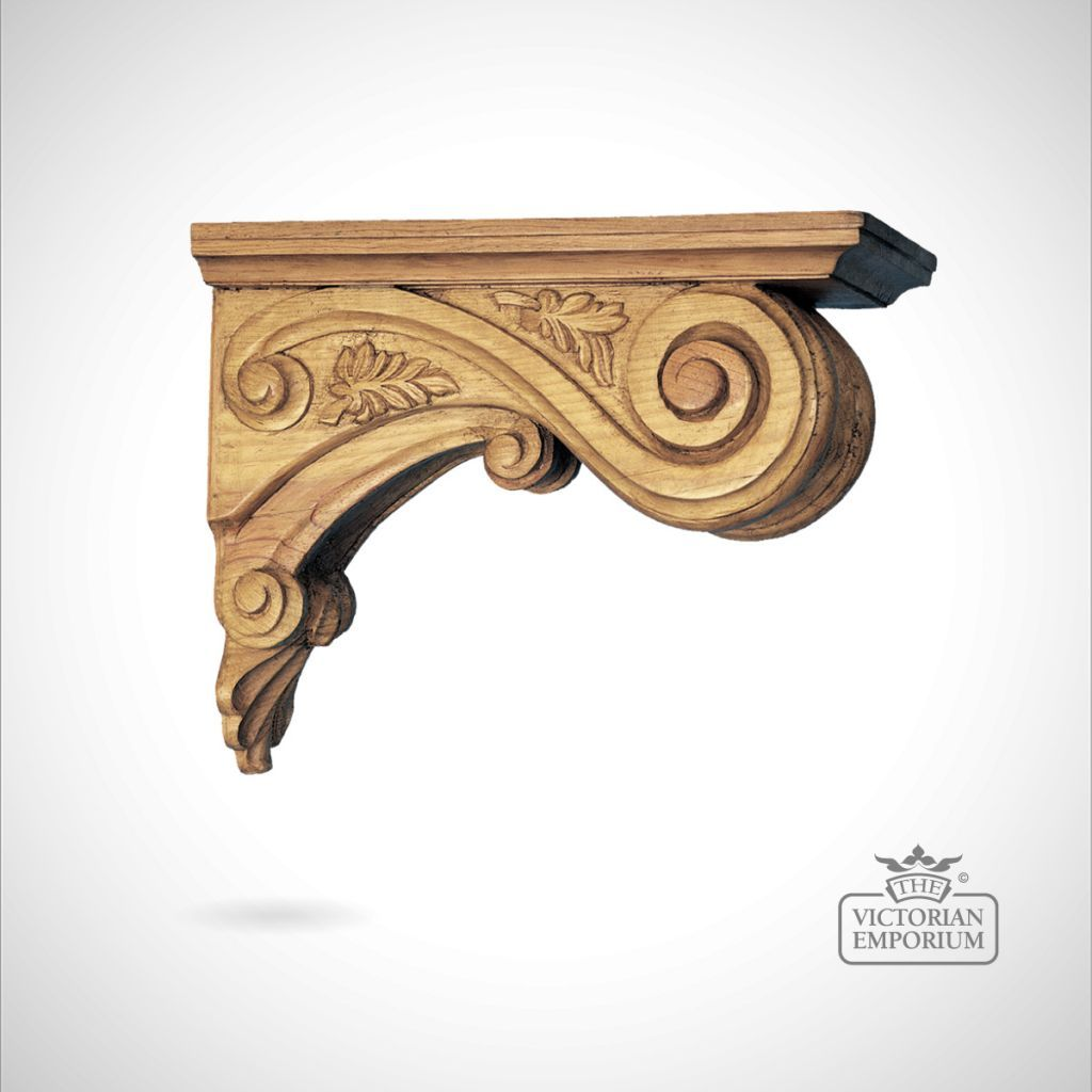 decorative leaf ceiling corbel - corbels | old folk victorian