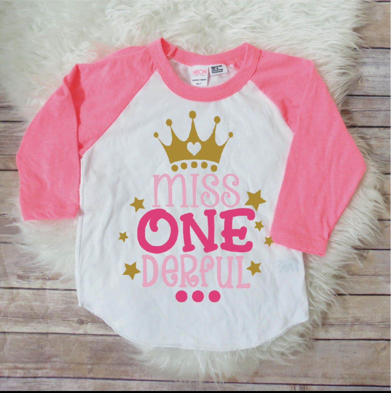 Miss ONEderful Birthday Shirt 1st Party One Year Old First
