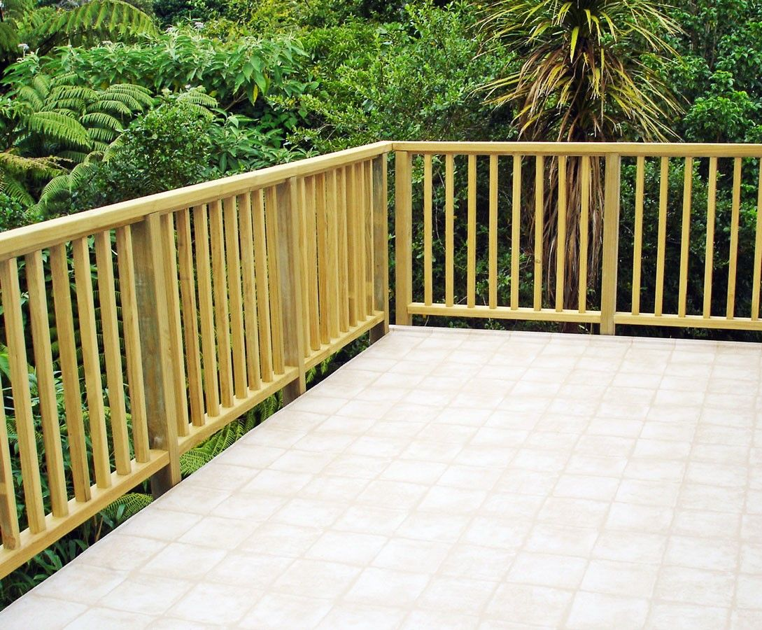 Timber deck balustrade google search balustrades for External timber decking