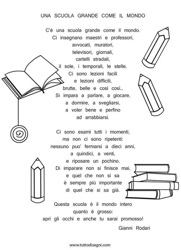 Poesia Scuola Rodari Poesie