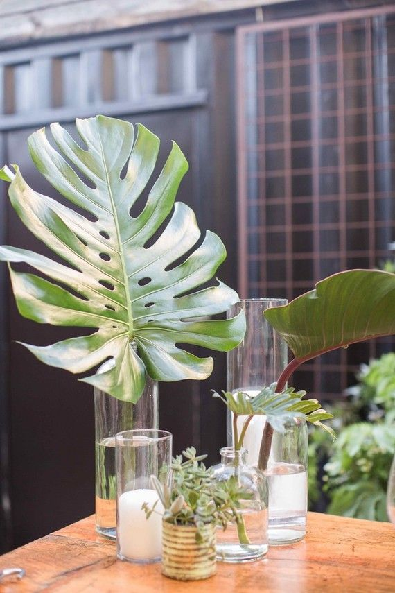 Palm leaf decor | Wedding & Party Ideas | 100 Layer Cake ...
