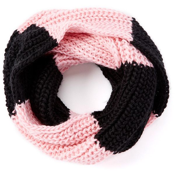 Crush Black & Pink Color Block Infinity Scarf ($4.99) ❤ liked on ...