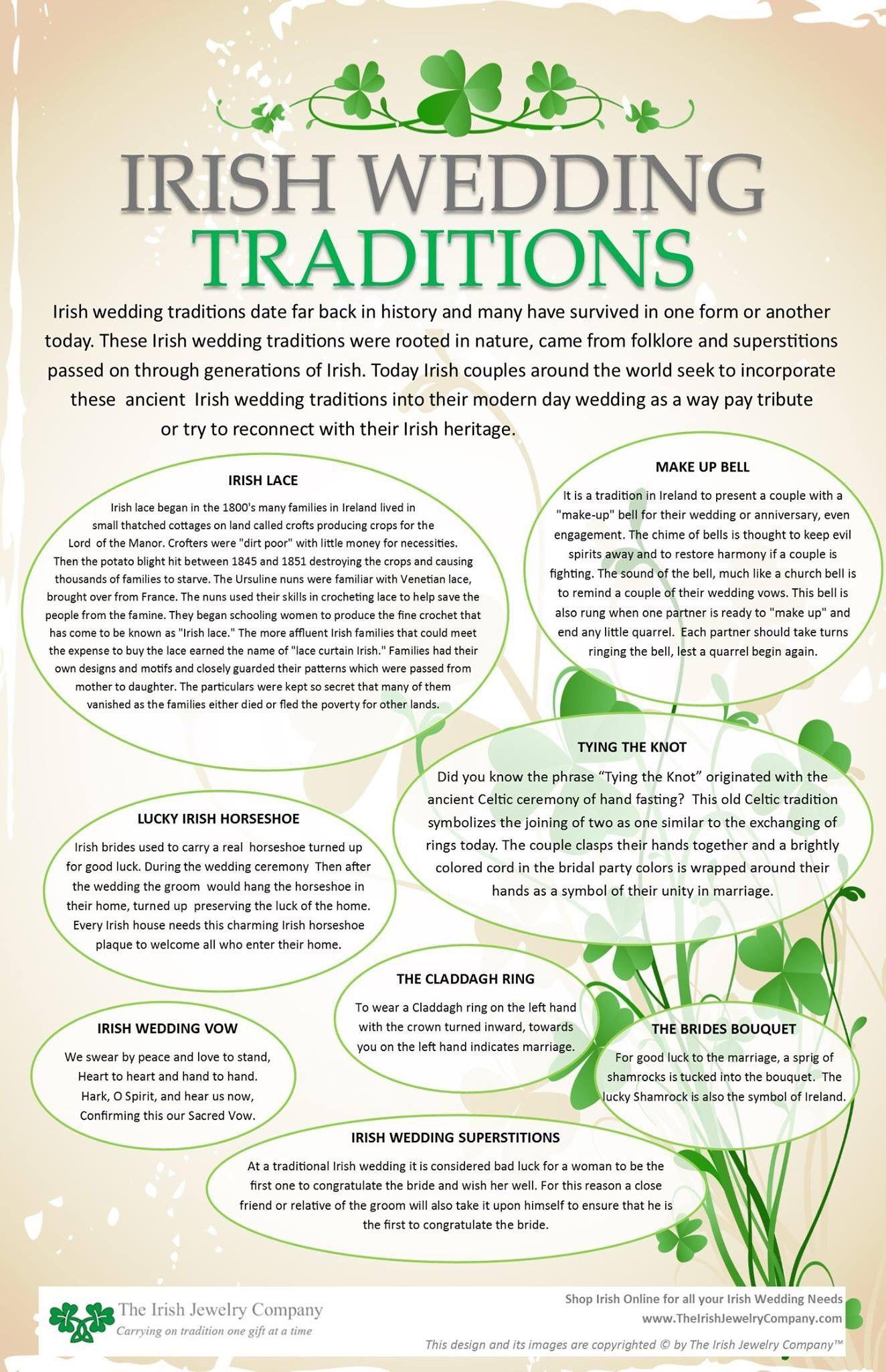 Pin by Linda Horne on Genealogy Irish wedding traditions