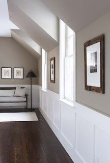 perfect example for wainscoting floor color and use rockport gray rh pinterest co uk
