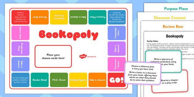 bookopoly board game guided reading fun activity reading book rh pinterest com guided reading activities ks2 new curriculum guided reading activities ks2 year 6