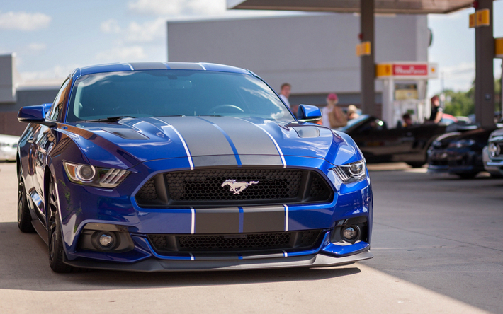 download wallpapers ford mustang blue sports car tuning mustang rh pinterest com